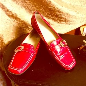 Anne Klein Red loafers Gorgeous Like New size 10
